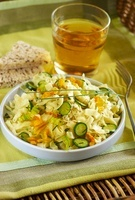 Pasta salad with courgette