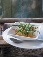 Fish soup with seaweed and tarragon, North Germany