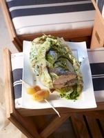 Salmon wrapped in Chinese cabbage