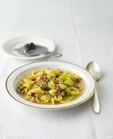 Pasta e fagioli tartufata (pasta and bean soup with truffles