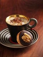 Walnut cake and cappuccino