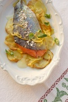 Carpione (Lake Garda salmon) in lemon sauce (Italy)
