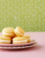Sandwich biscuits with vanilla cream