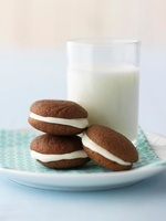 Whoopie pies and a glass of milk