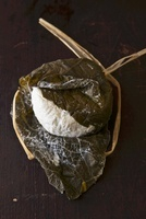 Hoja Santa (goat's cream cheese wrapped in pepper leaves) fr