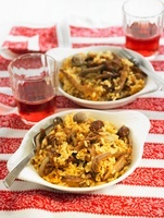 Rice with artichokes and mushrooms (Spain)