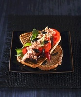 Grilled bread with nizza salad