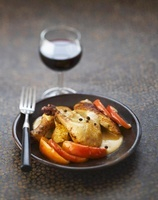 Chicken with apples and calvados sauce
