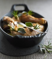 Roast chicken with sage and rosemary