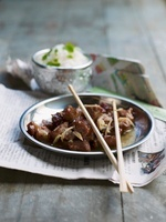 Caramelized pork with rice (Asia)