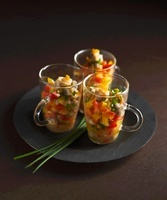 Vegetable salsa with mussels