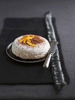 Chestnut parfait with grated chocolate