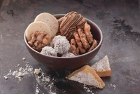 Assorted cookies in a dish