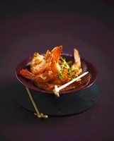 Grilled chilli prawns