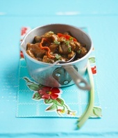 Stewed lambi (Caribbean conch)
