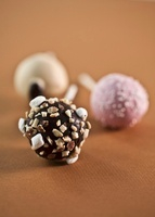 Three Assorted Cake Pops; Chocolate with Nuts and Marshmallo