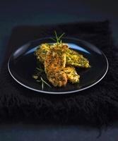 Chicken schnitzel with herb batter