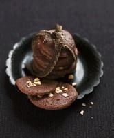 Chocolate Dacquoises (chocolate-nut meringue cookies)