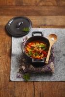 Stewed pork with peppers 22199072409| 写真素材・ストックフォト・画像・イラスト素材|アマナイメージズ