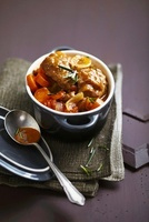 Stewed veal shank with rosemary