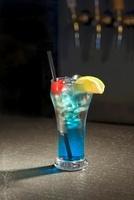 Blue Hawaiian on a Bar