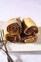 Crepes with chocolate filling