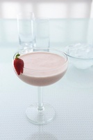 A Strawberry Tremor (a cocktail made with strawberry liqueur