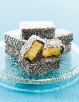 Lamingtons (sponge cakes covered in chocolate and coconut)