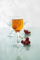 Kir made with white wine and cassis