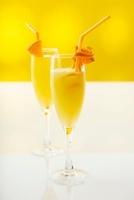 Bucks Fizz with Cointreau and orange juice