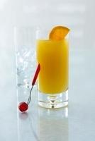 Harvey Wallbanger with vodka and orange juice