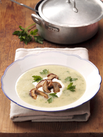 Mushroom soup with parsley