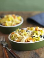 Baked Pasta with Chicken and Cream Sauce