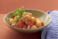 Gnocchi alla susana (gnocchi with tomatoes, pepper and marjo