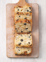 Fennel cake with olives