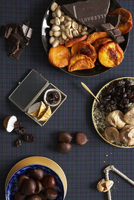 Assortment of Dried Fruits, Nuts and Chocolate