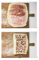 Ciabatta with a ham and cheese filling being made 22199073572| 写真素材・ストックフォト・画像・イラスト素材|アマナイメージズ