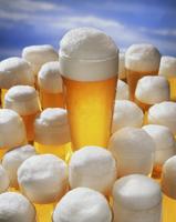 An arrangement of wheat beer