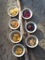 Various jams in bowls
