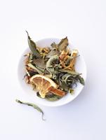 Joy herb tea with dried oranges
