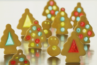 Colorfully decorated Christmas cookies
