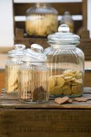 Various cakes in jars