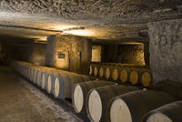 A storage cellar for barrique and bottles (Clos Fourtet, Fra