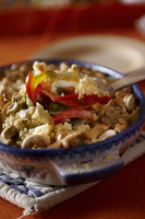 Couscous with peppers and nuts (India)