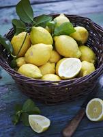 A basket of lemons