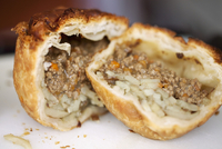Potato and minced beef pie