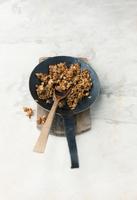 Oat brittle in a pan