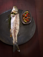 Grilled bass with ratatouille