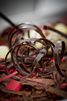 Chocolate spirals for decorating cakes