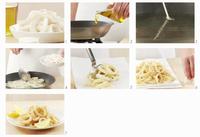 Fried squid rings being prepared
